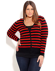 Hello Sailor Stripe Cardigan by City Chic