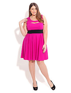 Cut out Skater Dress by City Chic