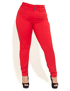 Miss Citrus Skinny Jean by City Chic