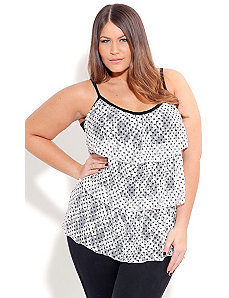 Top Lace Tier Top by City Chic