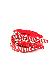 Striped And Spotted Belt 2 Pack by City Chic