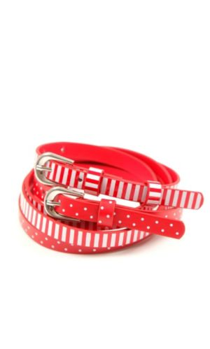 Striped And Spotted Belt 2 Pack