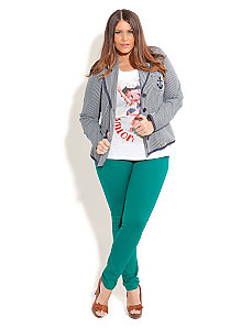 Nautical Anchor Jacket White by City Chic