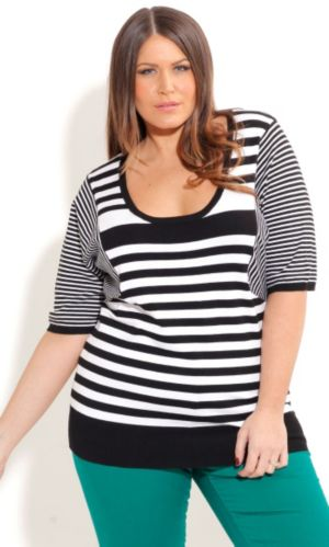 Monotone Stripe Jumper