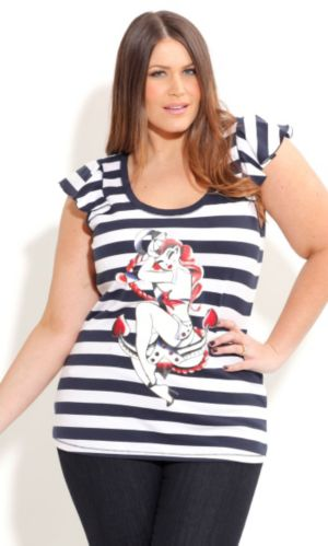 Anchor Girl Top