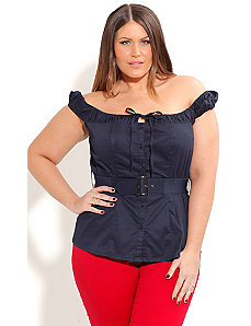 Sailor Wench Top by City Chic