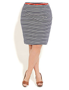 Nautical Pencil Skirt by City Chic