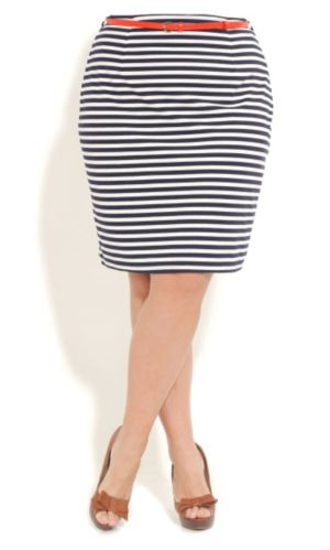 Nautical Pencil Skirt