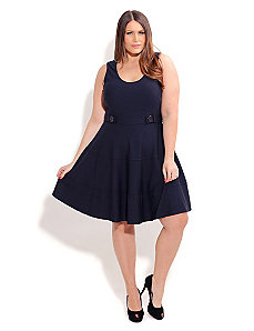 Naval Girl Skater Dress by City Chic