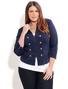 Naval Button Jacket by City Chic