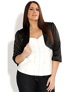 Satin Bolero Jacket by City Chic