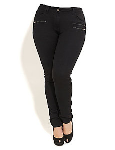 Black Night Skinny Jeans by City Chic