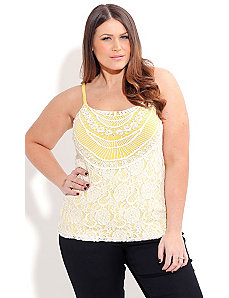 Crochet Layer Cami by City Chic