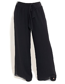 Chiffon Palazzo Pants by City Chic