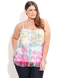 Floral Crush Blur Top by City Chic