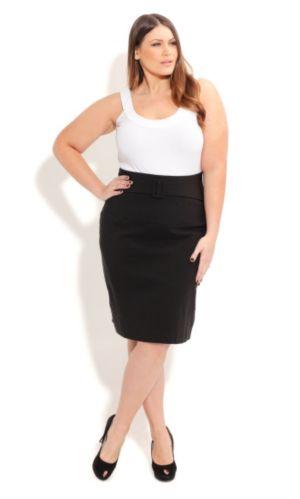 High Waist Skirt with Belt