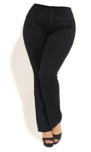 Classic High Waist Black Jeans