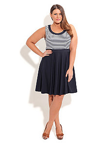 Sailor Skater Dress by City Chic