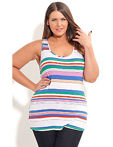 Candy Stripe Tank by City Chic