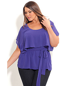 Overlay Capelet Top by City Chic