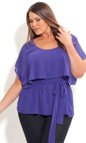 Overlay Capelet Top