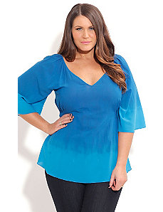 Ombre Blues Top by City Chic