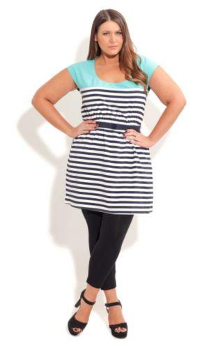 Sliced Stripe Tunic