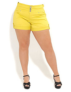 High Waist Short Shorts by City Chic