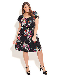 Bouquet Garden Dress by City Chic