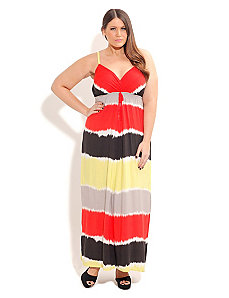 Tie Dye Color Maxi by City Chic