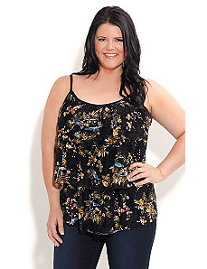 Strappy Lace Birdie Top by City Chic