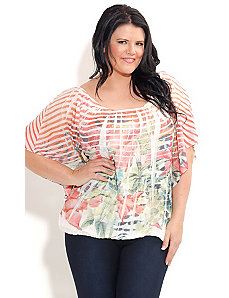 Crush Stripe Rose Top by City Chic