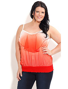Ombre Strappy Top by City Chic