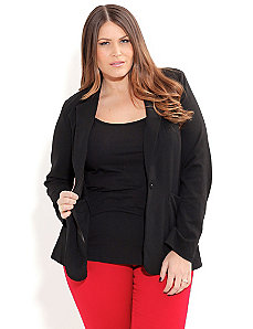 Ponte Boyfriend Jacket by City Chic