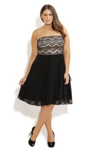 Eyelash Ebony Dress
