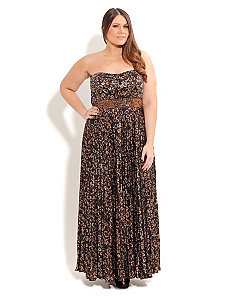 Athena Pleat Maxi by City Chic