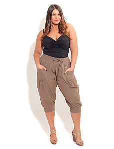 Pant Harem Khaki by City Chic