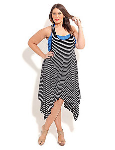 Stripe Beach Dress by City Chic