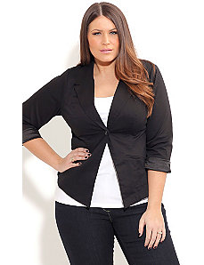 Sweet One Button Jacket by City Chic