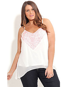 Embroided Blush Top by City Chic