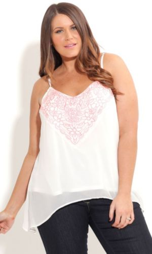 Embroided Blush Top
