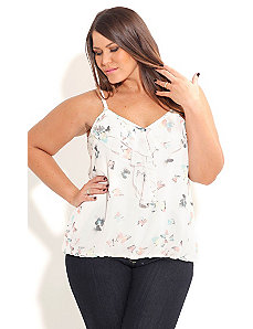 Butterfly Garden Top by City Chic