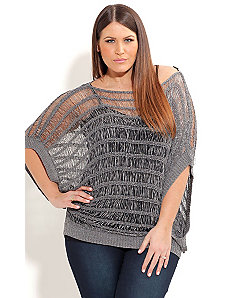 Metalliic Tape Yarn Jumper by City Chic