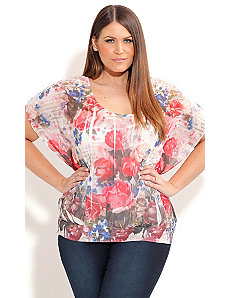 Crushed Rose Top by City Chic