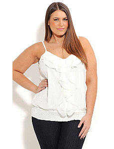 Strappy Embroided Top by City Chic