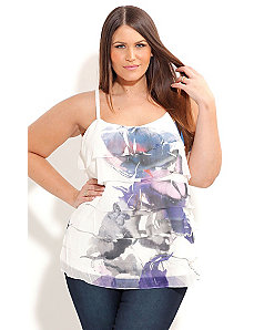 Tiered Butterfly Top by City Chic