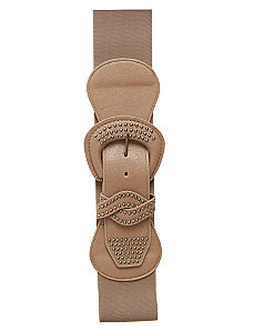 Neutral Stud Belt by City Chic