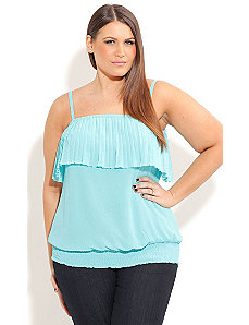 Strappy Pleat Top by City Chic
