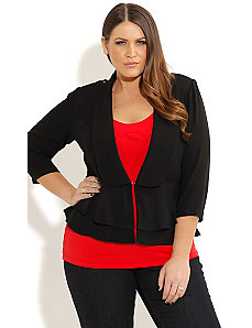 Criss Cross Back Jacket by City Chic