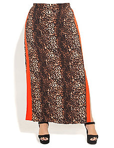 Animal Maxi Skirt by City Chic